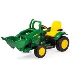 Электромобиль- трактор Peg-Perego John Deere Ground Loader (скорость до 7,3 км/ч, тележка)